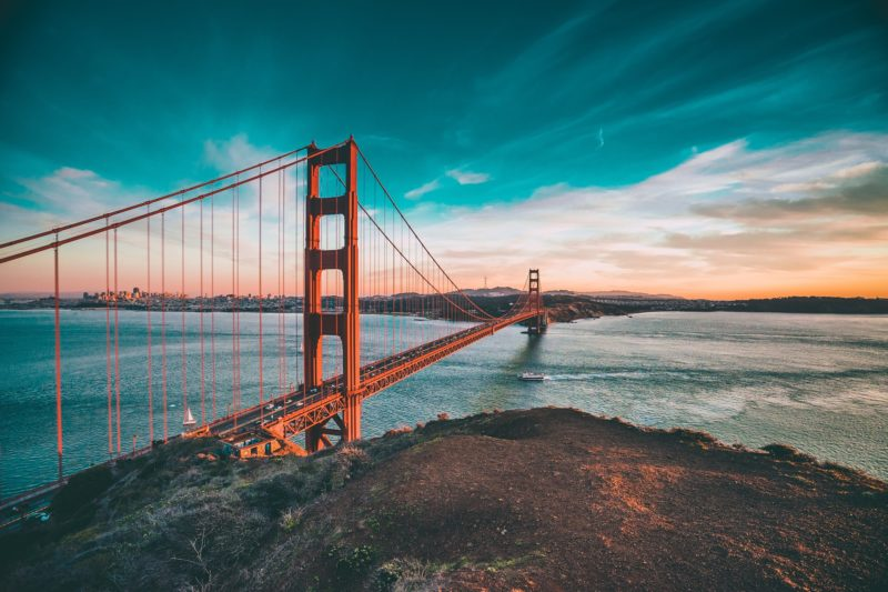 Most Golden Gate to wizytówka San Francisco